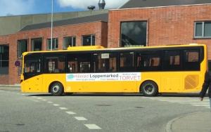 Hillerød Loppemarked Busreklame